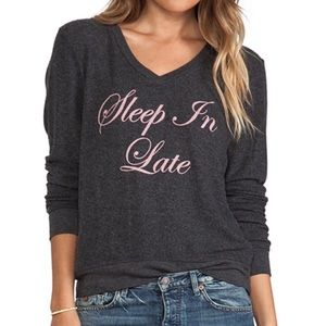 Wildfox Sleep In Late Baggy Beach V-neck